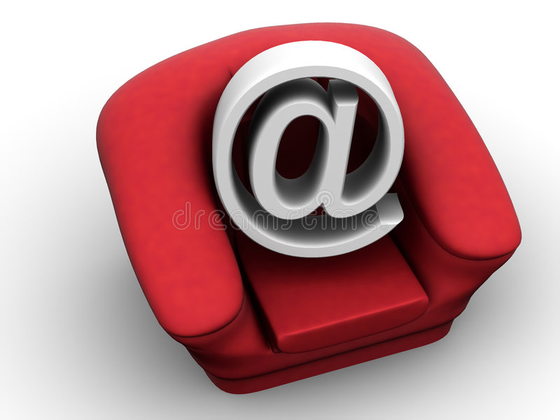 Download Armchair With Symbol For Internet Stock Illustration - Illustration of icon, internet: 4123388