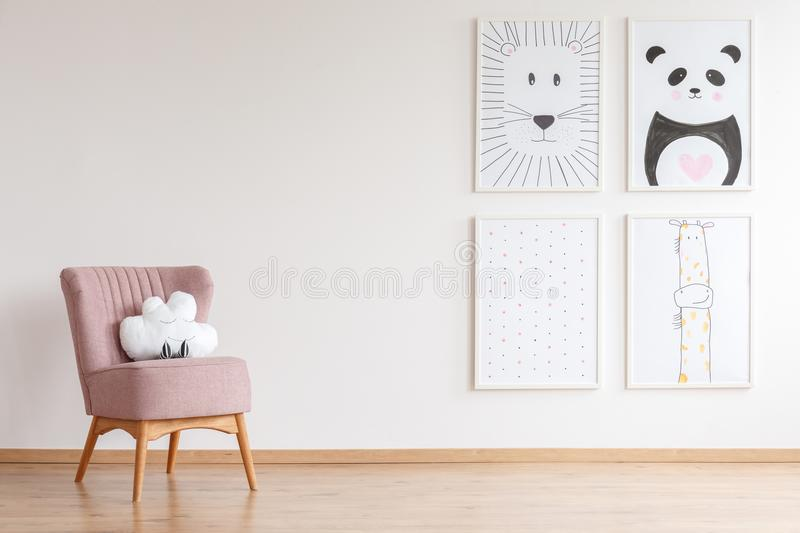Armchair with toy royalty free stock image