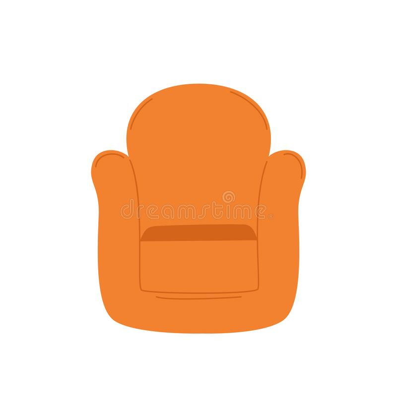 Armchair Vector Isolated Cartoon Seating Place stock illustration