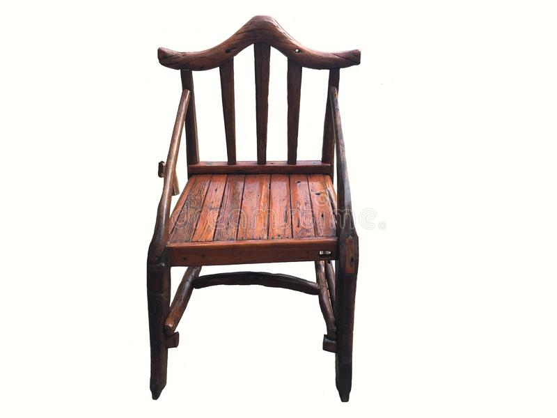 Armchair vintage old style wooden furniture. stock photos