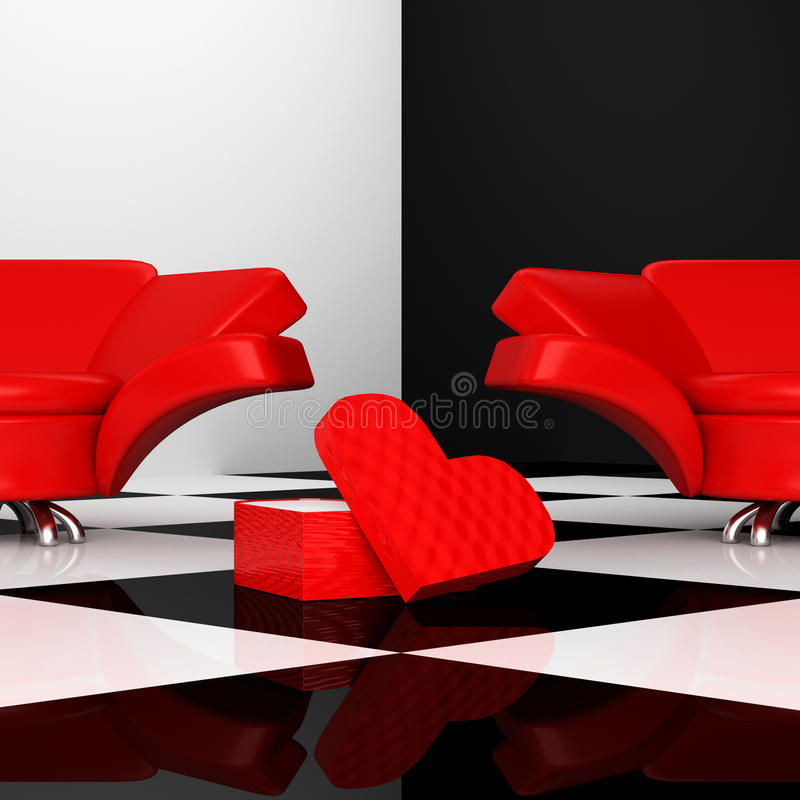 Free Armchairs With Heart Stock Images - 13242054