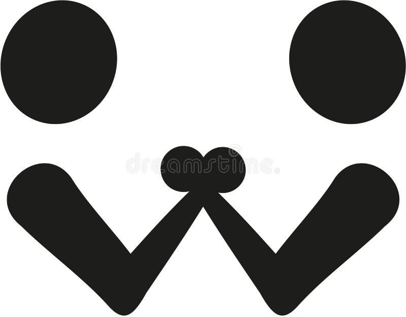 Armdrückensymbol vektor abbildung