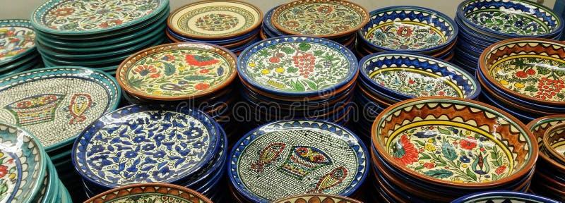 Armeńscy ceramiczni talerze obrazy royalty free