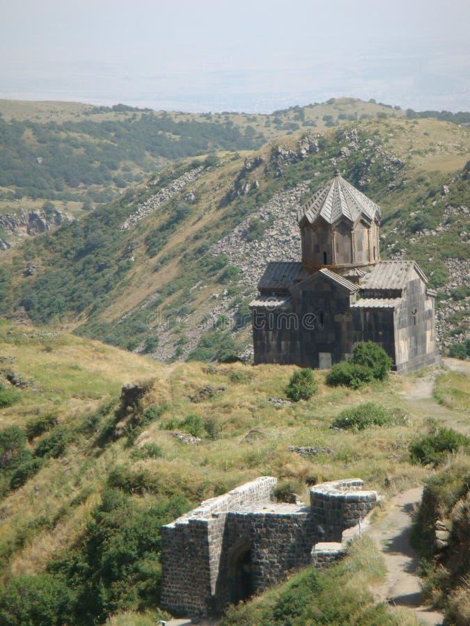 Armeński kościół w górze obok harta Amberg obraz royalty free