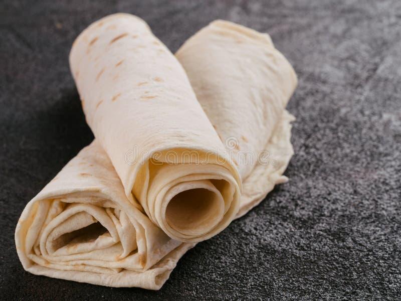 Armeński płaski chlebowy lavash obraz royalty free