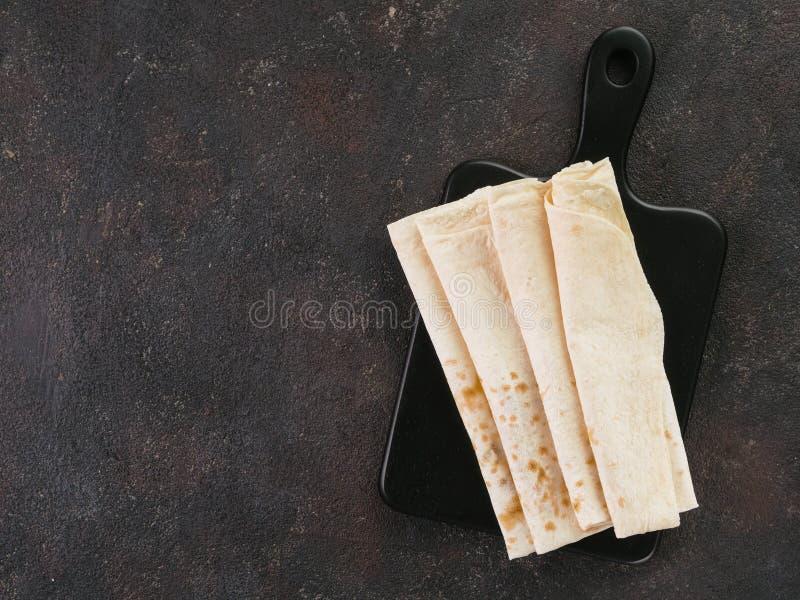 Armeński płaski chlebowy lavash zdjęcie stock