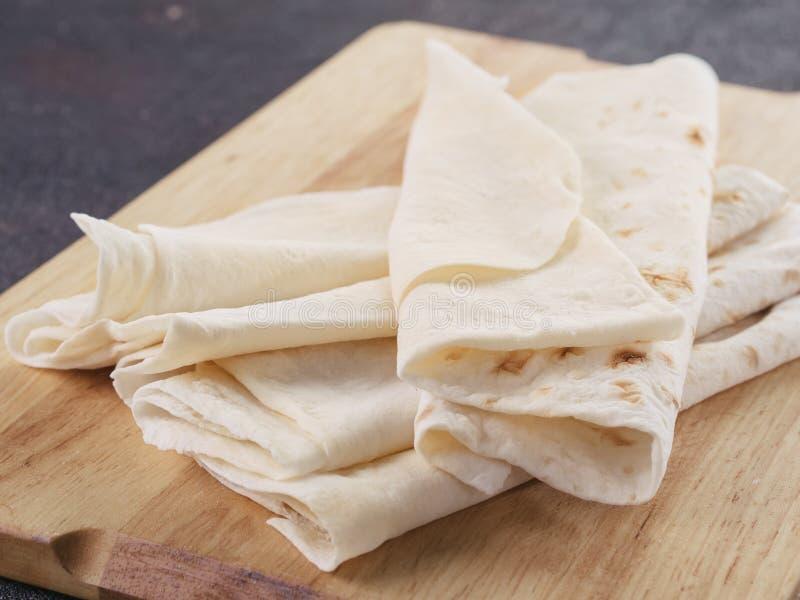 Armeński płaski chlebowy lavash zdjęcia stock