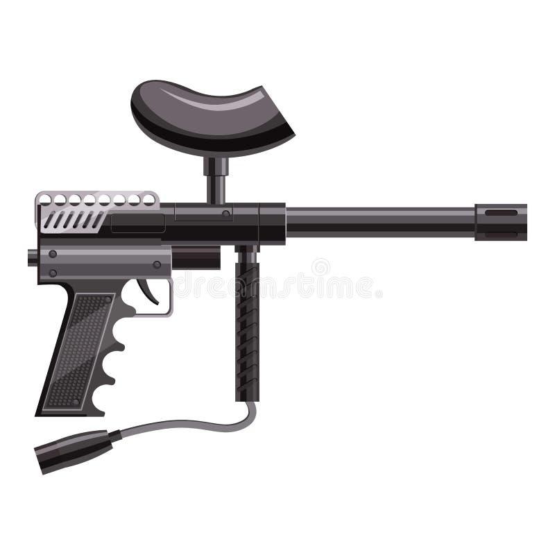 Arme à feu chargée pour l'icône de paintball, style de bande dessinée illustration libre de droits