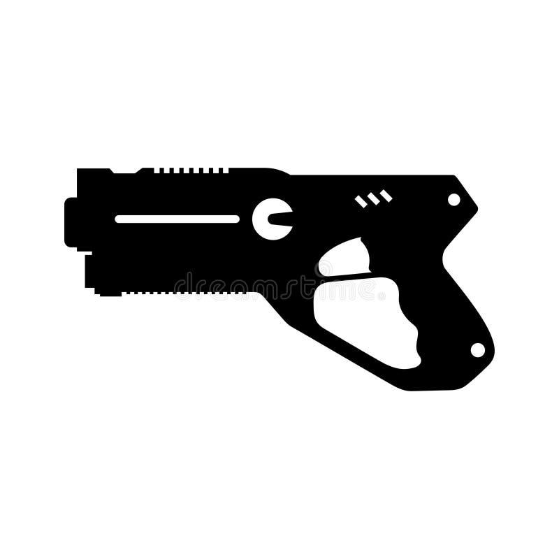 Arme à feu d'étiquette de laser illustration stock