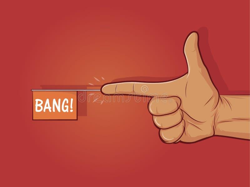 Arme à feu de doigt illustration de vecteur