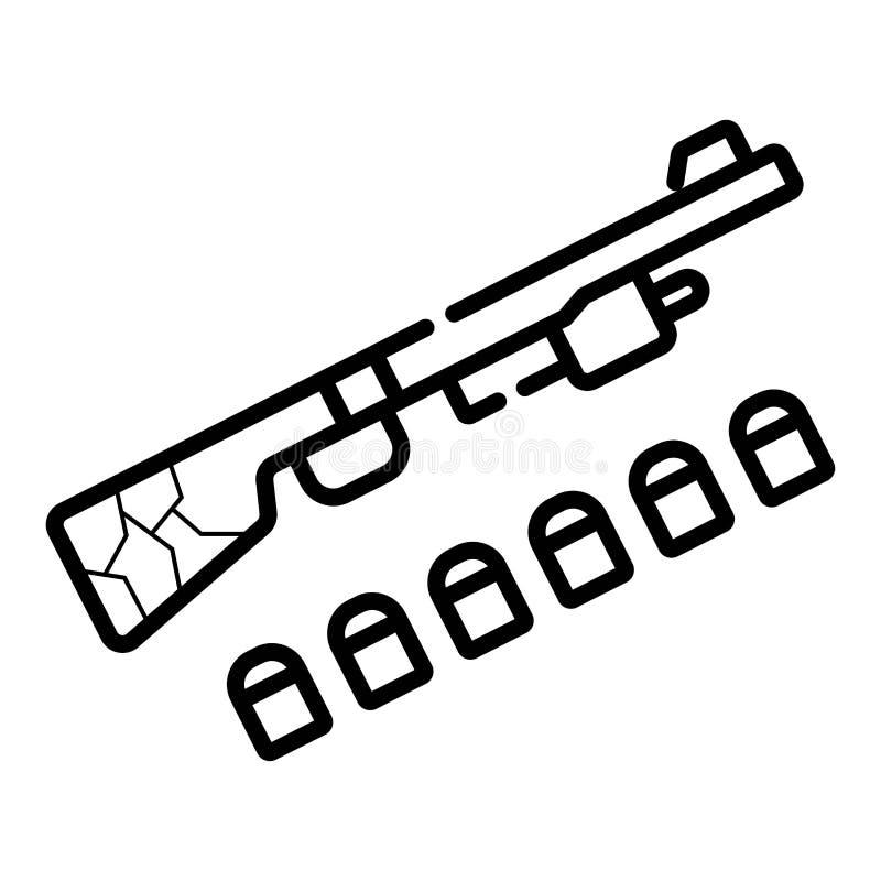 Arme à feu de fusil de chasse illustration libre de droits