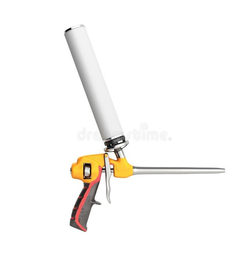 Arme à feu de mousse sur le fond blanc qu'aucune ombre 3d ne rendez illustration de vecteur