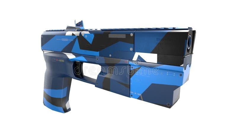Arme à feu de Scifi - rendu 3D illustration stock