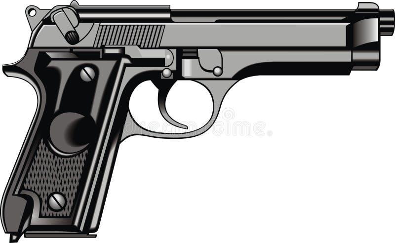 Arme à feu moderne de main (pistolet) illustration stock