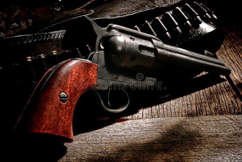 Arme à feu occidentale américaine et balle occidentale Bell de revolver photos libres de droits
