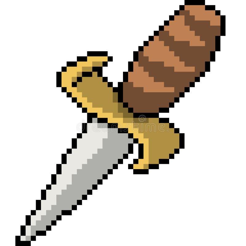 Arme de couteau d'art de pixel de vecteur illustration libre de droits