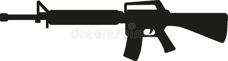 Arme de fusil de tireur isolé illustration de vecteur