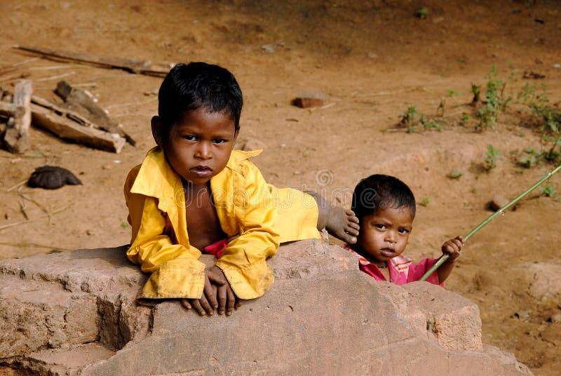 Arme Kinder stockfotos
