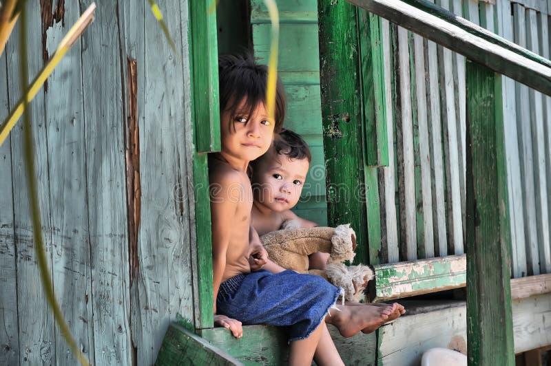Arme Kinder von St. Maarten stockbilder