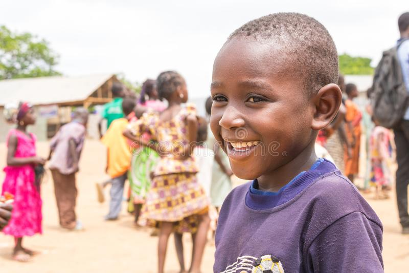 Arme ländliche afrikanische Kinder 11 stockbild