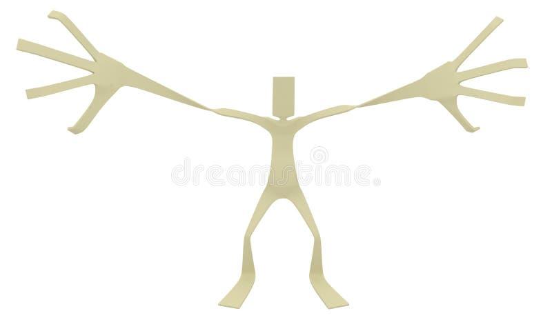 arme paperman géant illustration libre de droits