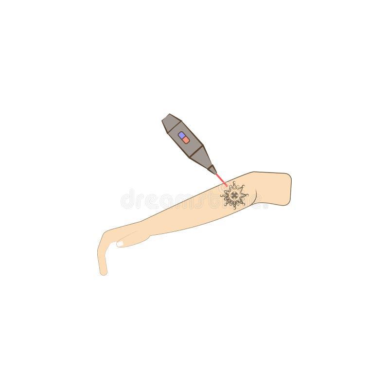 arme, tatuaje del miembro quitan el icono coloreado laser Elemento del icono coloreado del laser de la cosmetología para los apps libre illustration