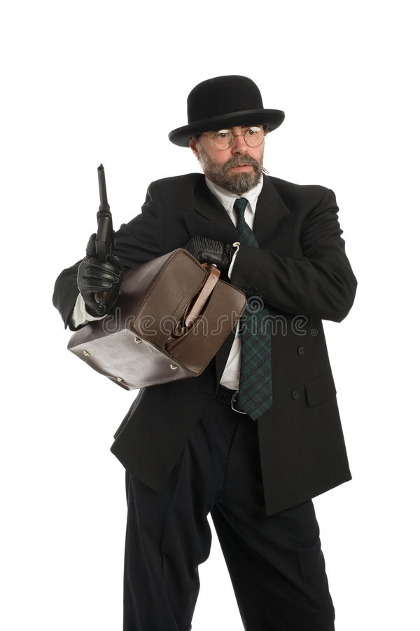 Download Armed bank robber stock photo. Image of holding, gangster - 17622648