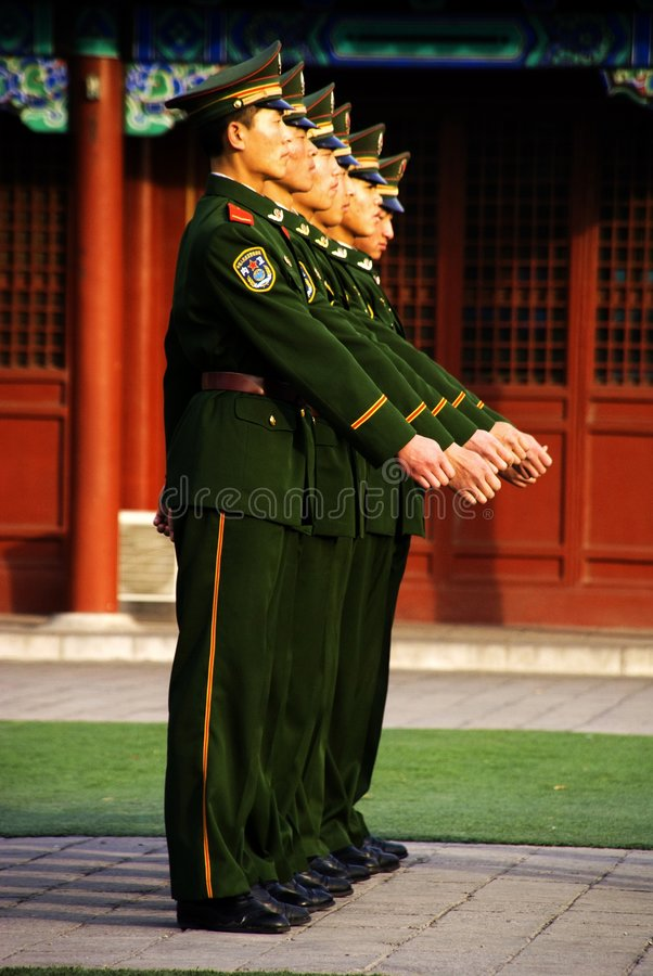 Free Armed Escorts In Forbidden City Stock Images - 4755474