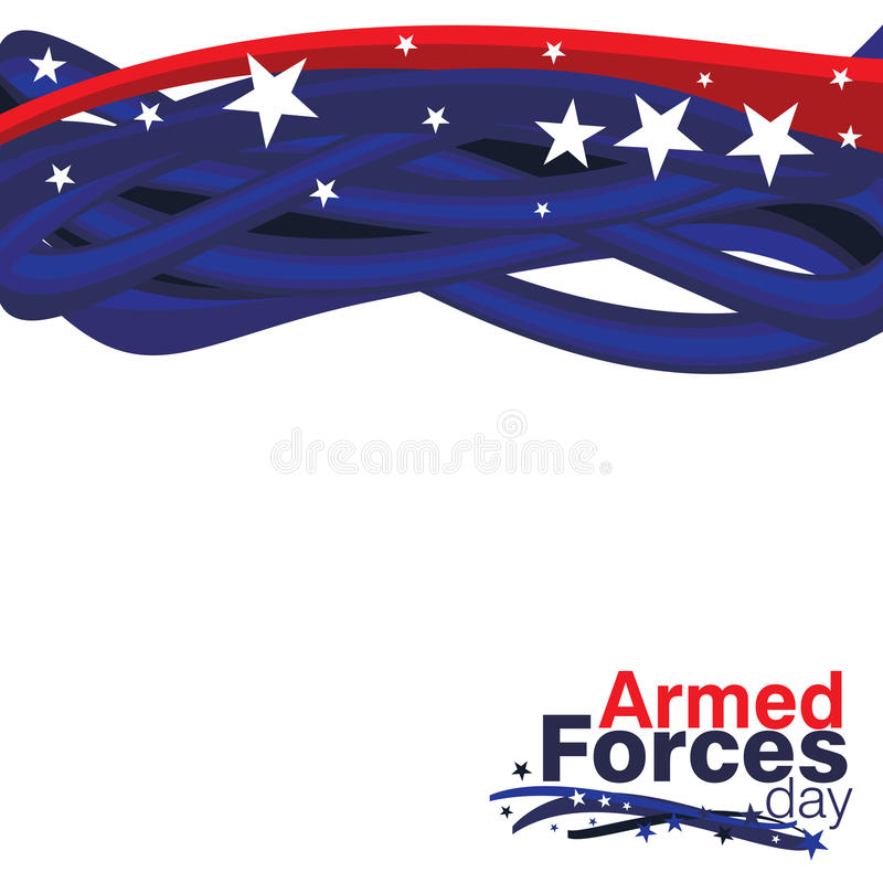 Armed Forces Day stock illustration