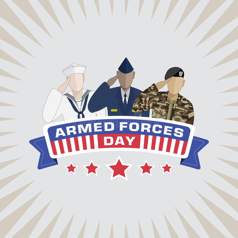 Armed Forces Day vector illustration