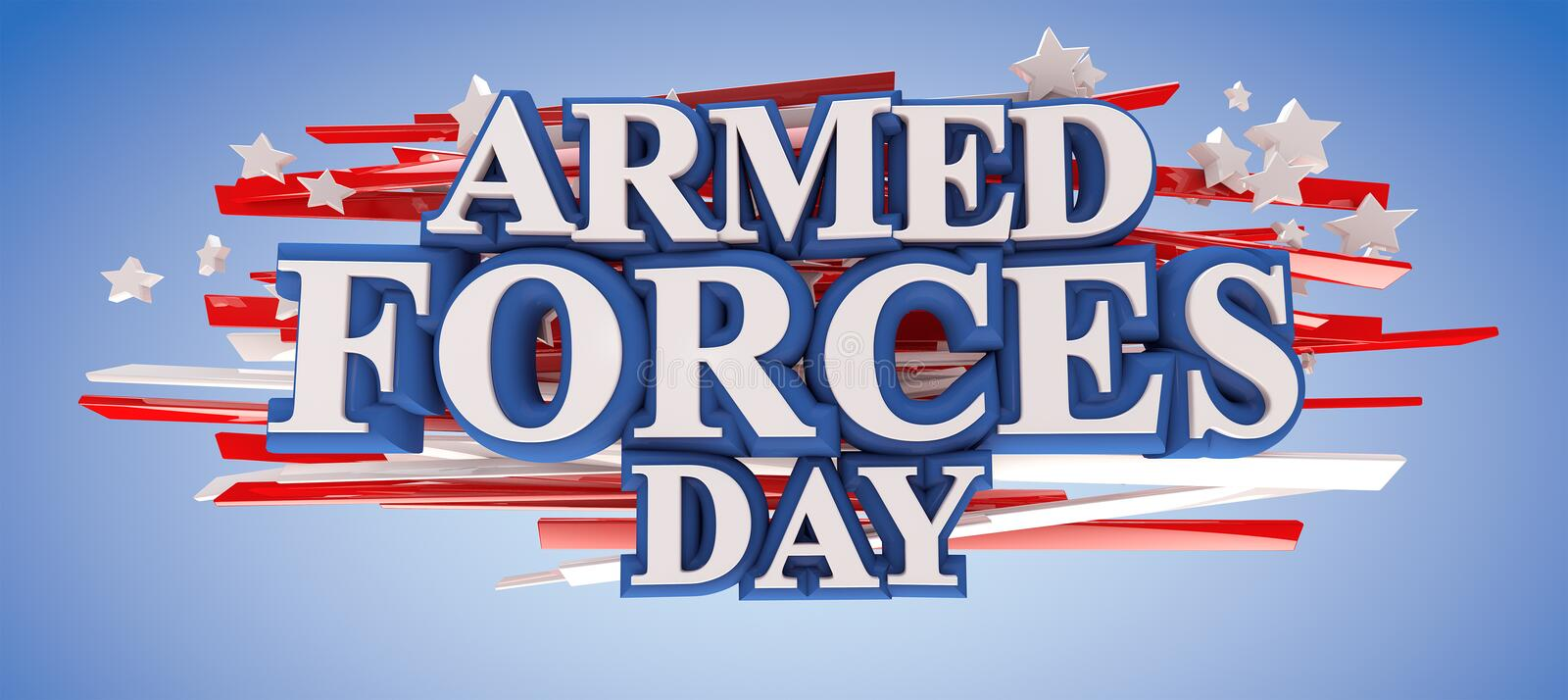Armed Forces Day. With clipping path included for easy selection vector illustration
