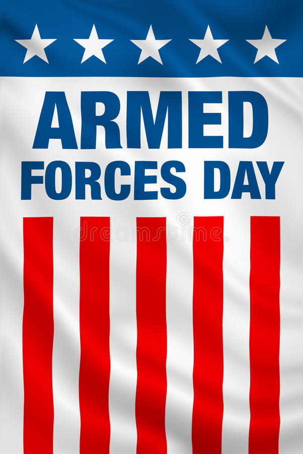 Armed Forces Day USA. Holiday vertical patriotic flag banner vector illustration