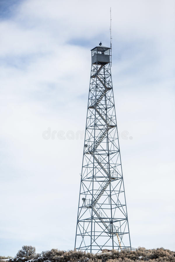 Oregon Armed Militia Standoff - Malheur Wildlife Refuge. A lookout tower stands near the standoff compound at the Malheur Wildlife Refuge, located 30 miles south stock image