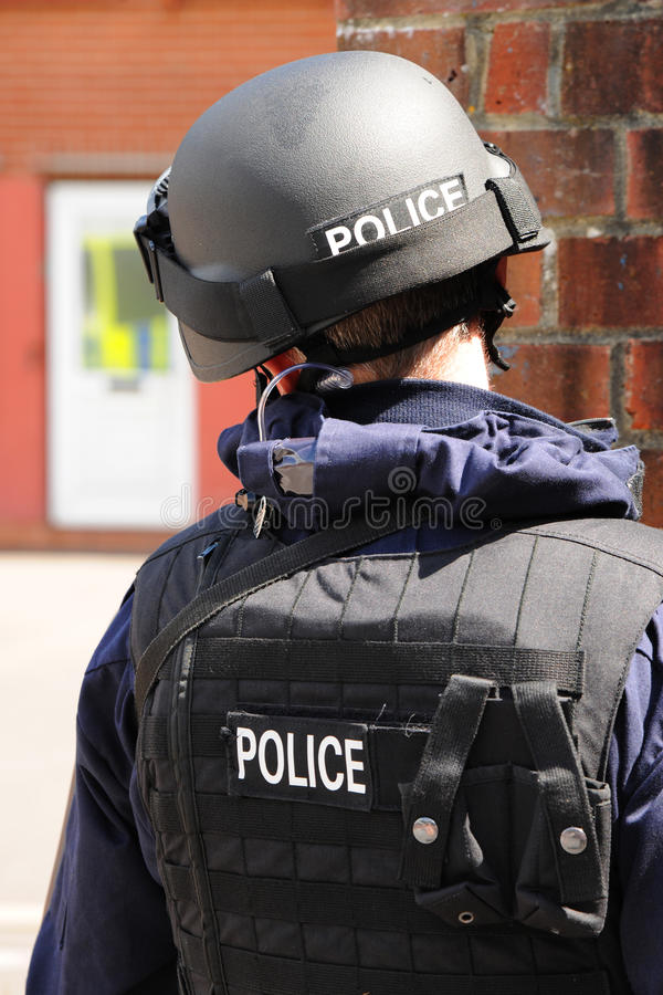 Armed police. SWAT in action stock image