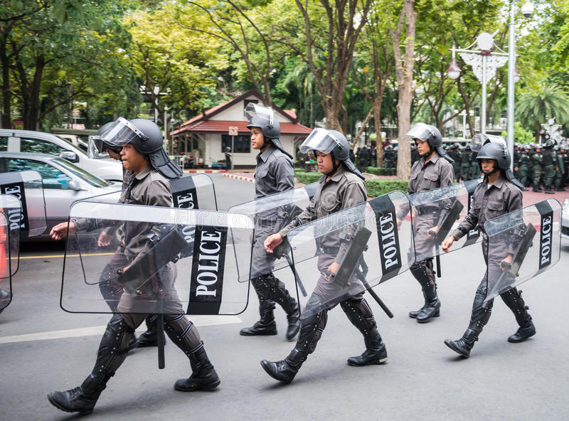 Download Armed policemen patrol editorial stock photo. Image of protest - 35124803
