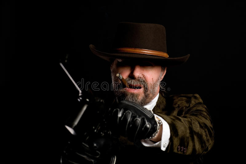 Download Armed robber with a Mauser stock photo. Image of member - 17623360