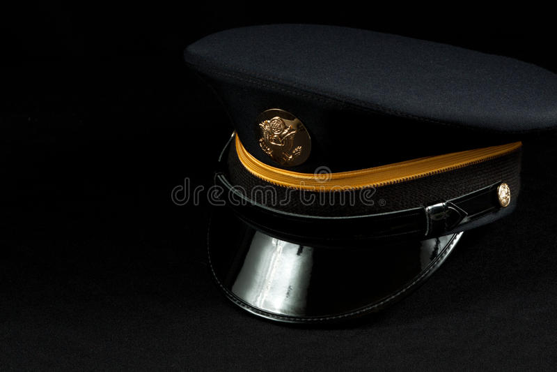 Armee eingetragener Militärhut stockfotografie