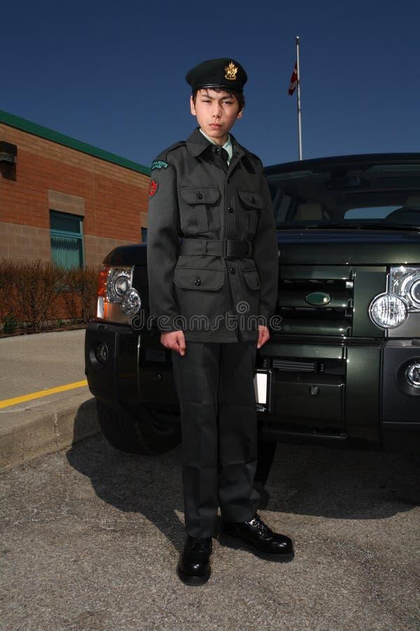 Armee-jüngsterer Sohn stockfoto