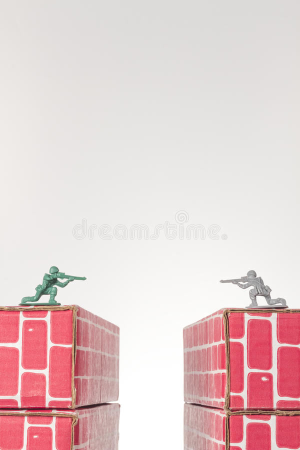 Armee-Mann-Rivalen lizenzfreie stockfotografie