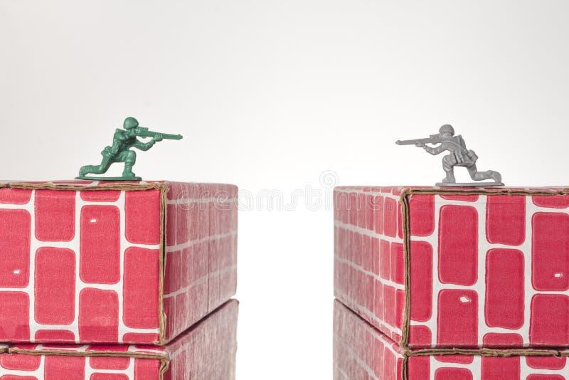 Armee-Mann-Rivalen stockfoto