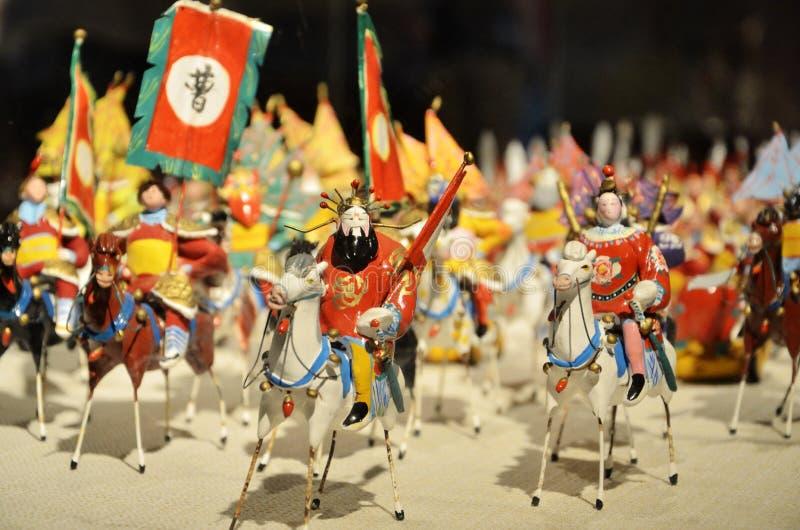 Armee und Pferde des Zeitraums mit drei Königreichen lizenzfreie stockfotos