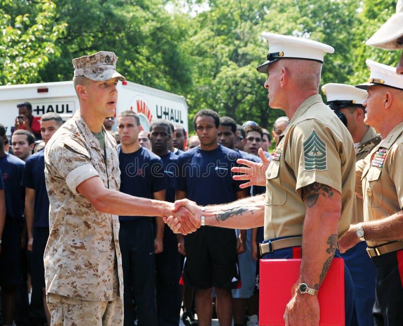 Armeeförderungzeremonie. lizenzfreie stockfotos