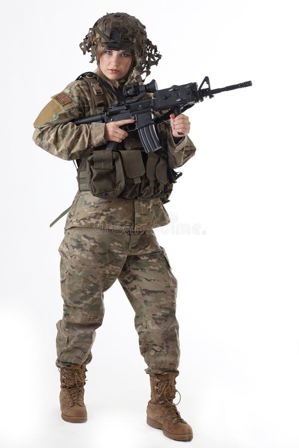Armeemädchen 7 lizenzfreies stockfoto