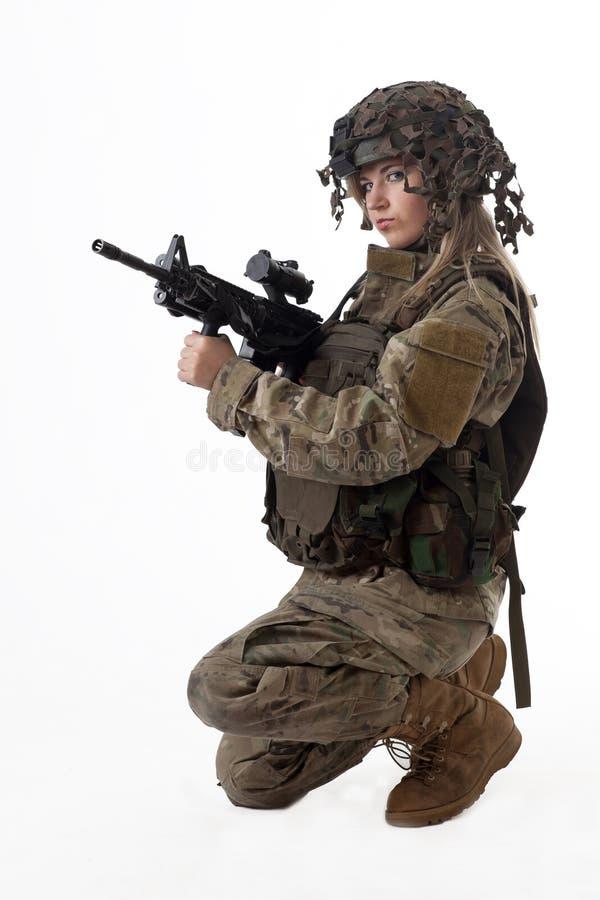 Armeemädchen 8 lizenzfreie stockfotos