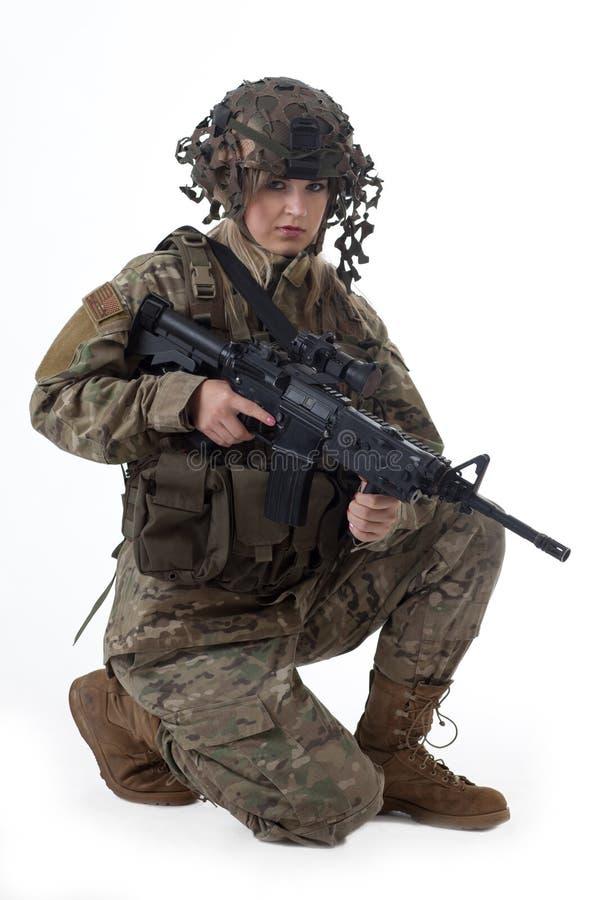 Armeemädchen 9 stockbilder