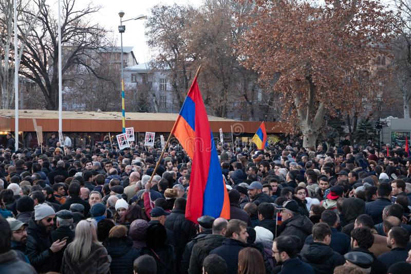 Armeens maart royalty-vrije stock afbeelding