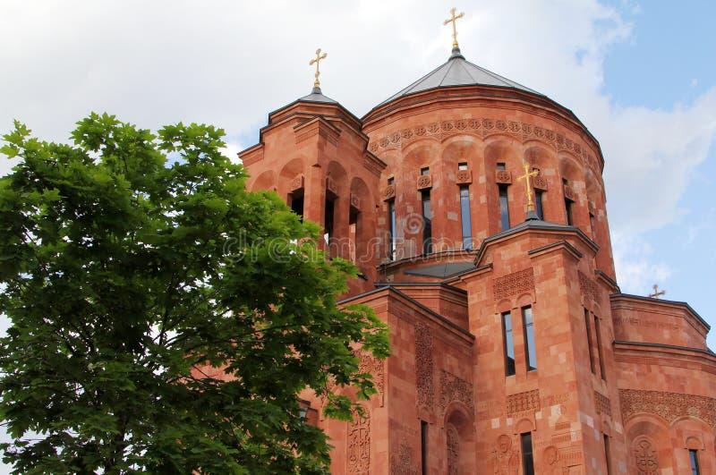 Armeense Apostolische Orthodoxe Kerk in Moskou, Rusland stock afbeelding