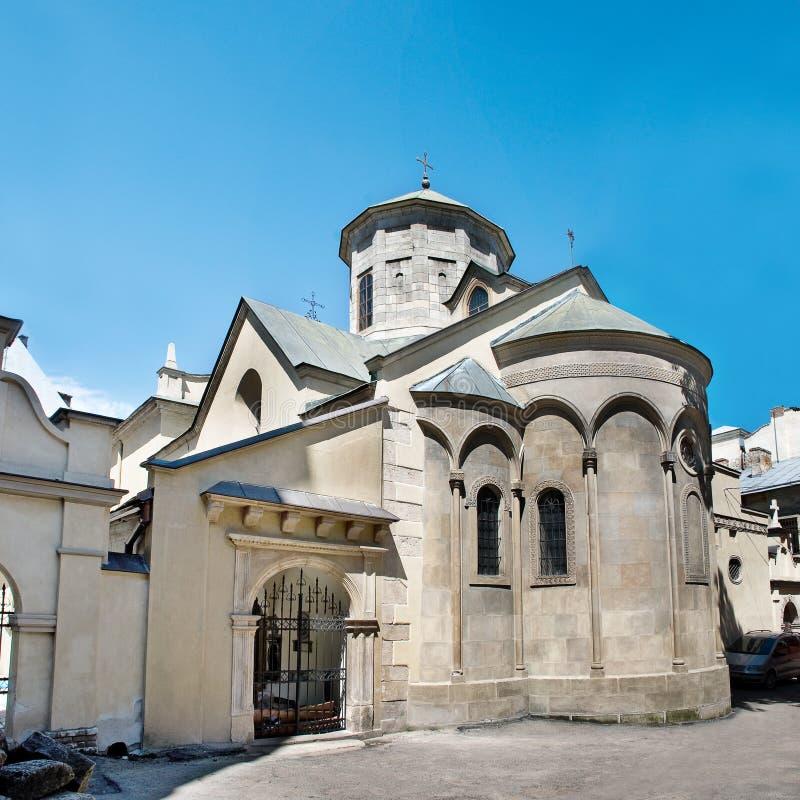 Armeense Kerk in Lviv royalty-vrije stock foto