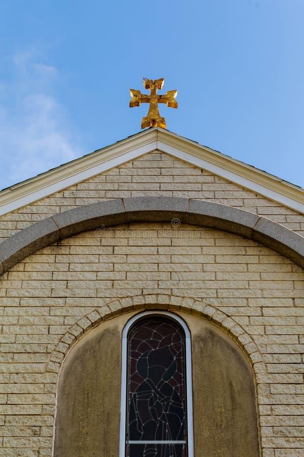 Armeense Kerk van het oude Kruis stock foto's