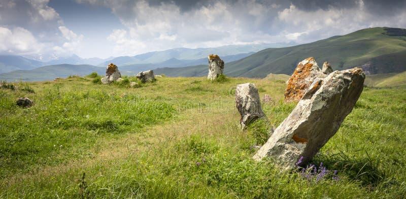 Armeense Stonehenge-plaats genoemd Karahunj stock foto's